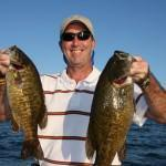 Charles Fitzgerald with a couple Giant Smallies